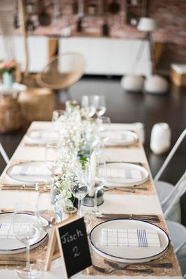 """Hochzeitslocation, Trend Studio & Loft, Tischdeko, Geschirr Paket """"die Fantastischen"""""""
