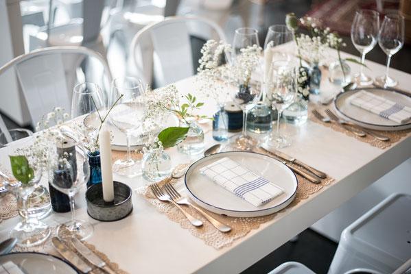 """Hochzeitslocation, Kochschule, Kochkurse in Hamburg, Trend Studio & Loft, Tischdeko, Geschirr Paket """"die Fantastischen"""""""