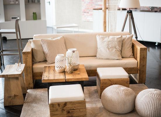 """Hochzeitslocation in Hamburg, Trend Studio & Loft, Lounge Paket """"die Natürlichen"""""""