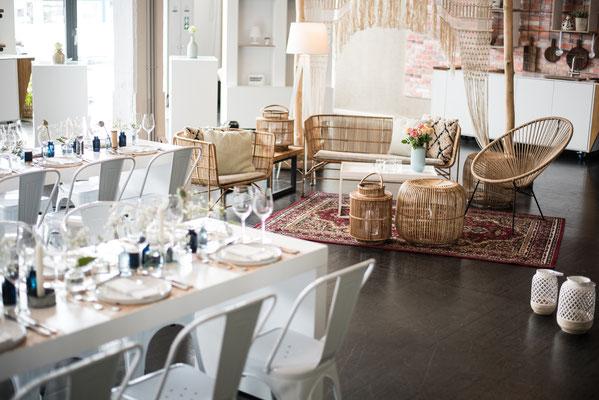 """Hochzeitslocation, in Hamburg, Trend Studio & Loft, Tisch und Stuhl Paket """"die Fantastischen"""""""