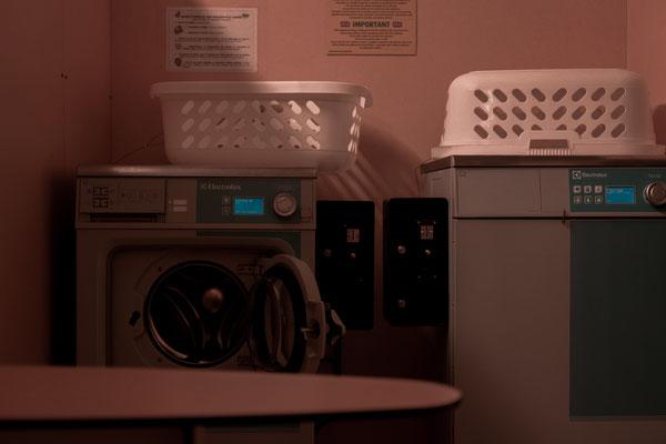 Waschmaschinen auf dem Campingplatz auf der Il de Re