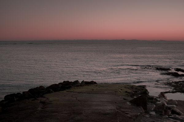 Campingplatz auf der Il de Re mit Blick auf die Atlantikküste in der Nähe von Phare des Baleines