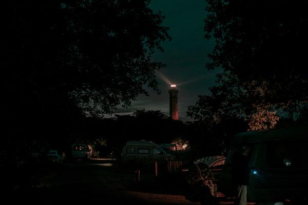 Alter Leuchtturm auf der Il de Re mit Blick vom Campingplatz