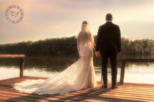 Brautpaar Shooting Sonnenuntergang Caputh