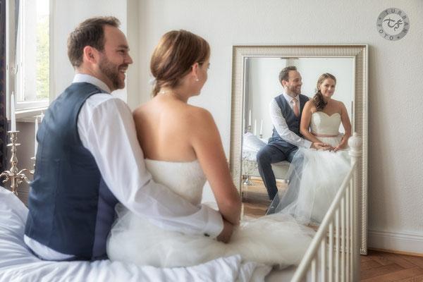 Hochzeit Shooting Brautpaar mit  Fotograf in Berlin