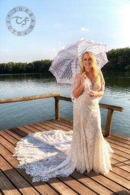 Braut am Wasser Shooting in Werder Kemnitz