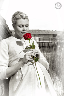 Braut mit Rose Potsdam