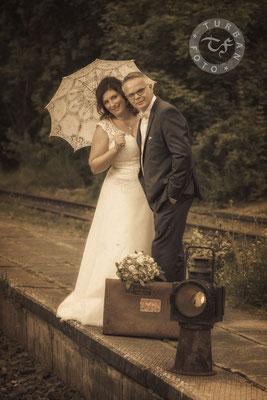 Hochzeit Shooting am Bahnhof Fotograf