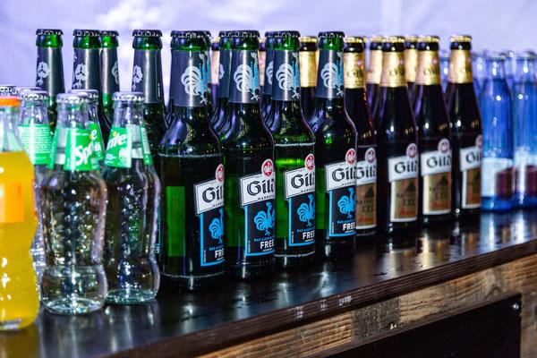 Die Getränkeauswahl mit Bier