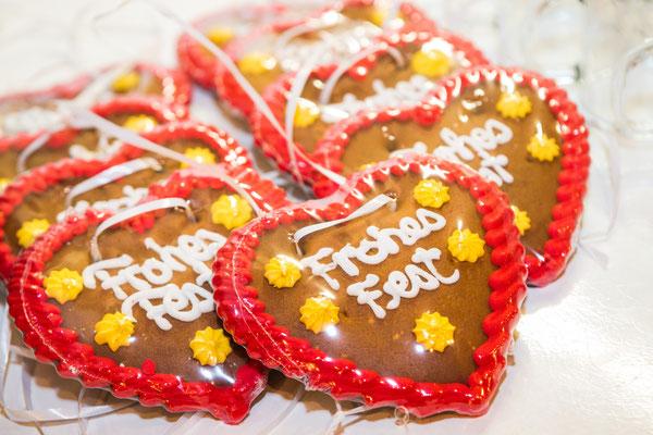 süße Lebkuchenherzen für Besucher