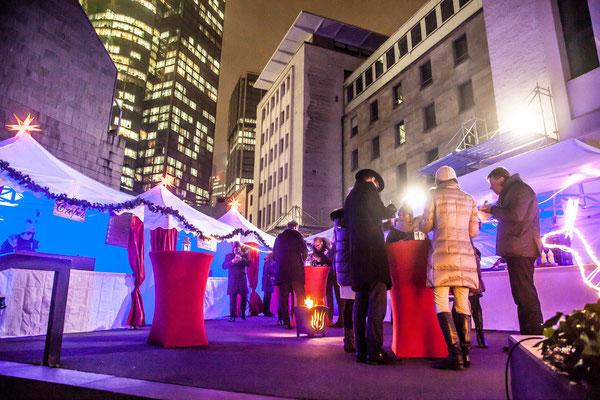 Pagoden Weihnachtsmarkt mitten in der City