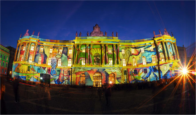Bebelplatz, Kommode, Bibliothek der Humboldt-Universität, Festival of Lights 2018