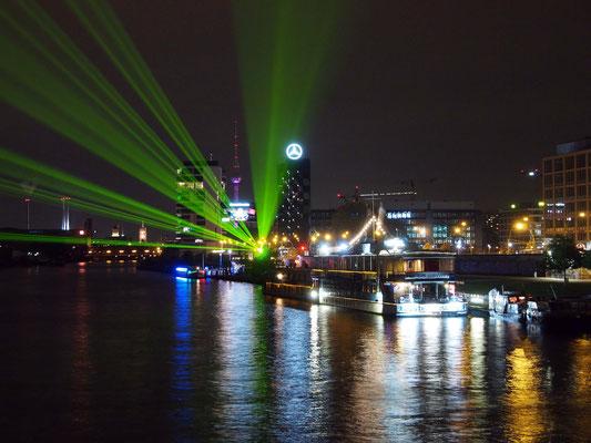 Blick von der Oberbaumbrücke, Festival of Lights