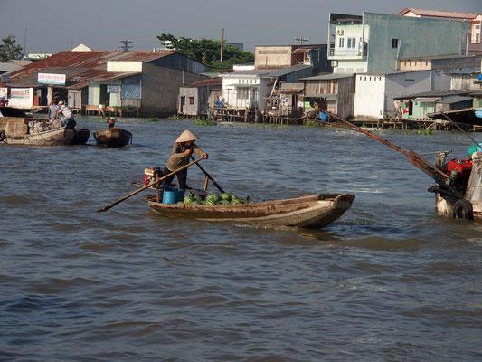 Auf dem Mekong bei Can Tho