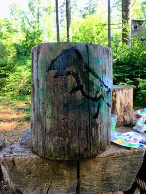 Malen im Wald Waldtagesfamilie