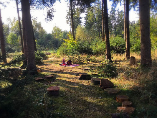 Waldtagesfamilie Kinderbetreuung im Wald