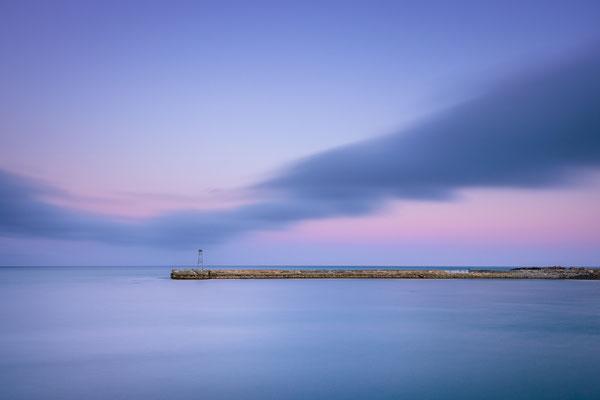 Bild Nr. 2019_5325: Hafenmauer Oamaru (Neuseeland) nach Sonnenuntergang