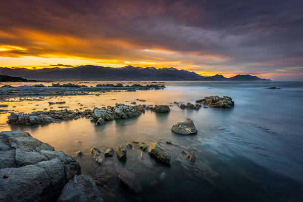 Bild Nr. 2019_5738: Farbiger Sonnenuntergang in Kaikoura, Neuseeland