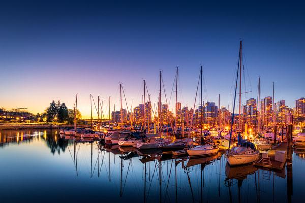 Bild Nr. 2019_9292: Hafen Vancouver nach Sonnenuntergang