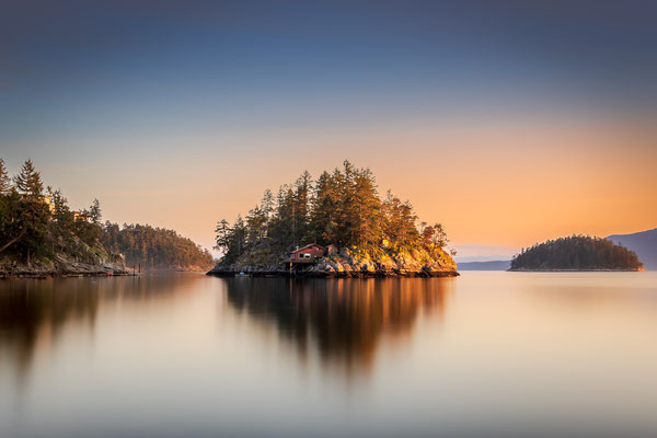 Bild Nr. 2019_8918: Abendstimmung an der Sunshine Coast in Kanada