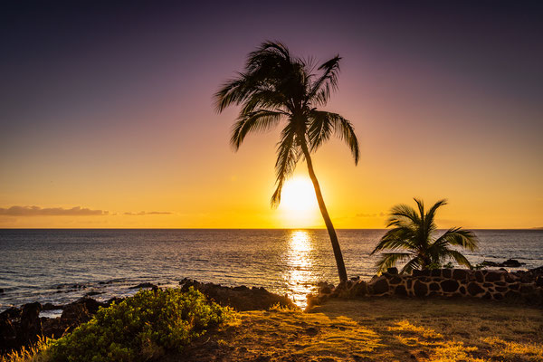 Bild Nr. 2019_6788: Hawaiianischer Sonnenuntergang auf Maui