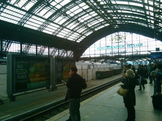 ケルンの駅の様子。
