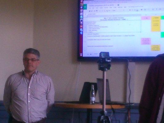 iDempiereのソースコードのリポジトリのメンテナーでコミュニティーの中心人物の一人であるカルロス氏。