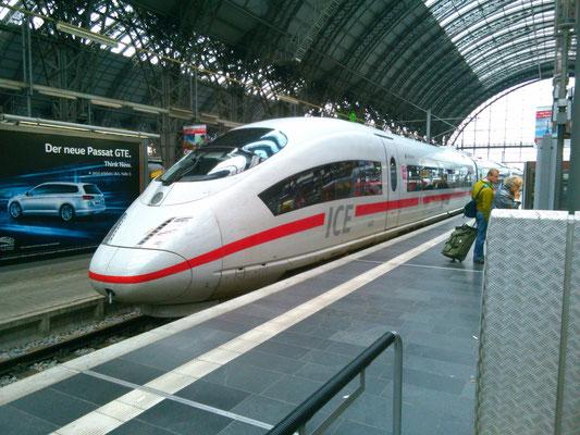 ドイツの新幹線ともいえるICE。