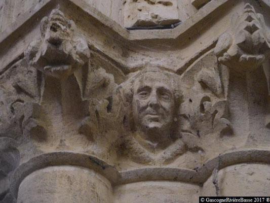 Sculpture chapiteau église de Plaisance du Gers Abbé Daran