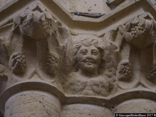 Sculpture chapiteau église de Plaisance du Gers Mathieu
