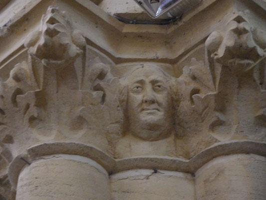 Sculpture chapiteau église de Plaisance du Gers Abbé Palanque