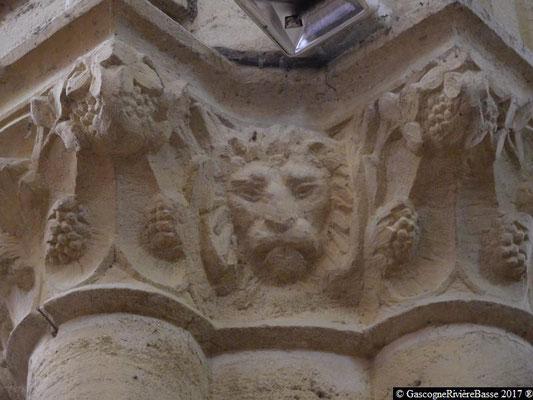 Sculpture chapiteau église de Plaisance du Gers Marc