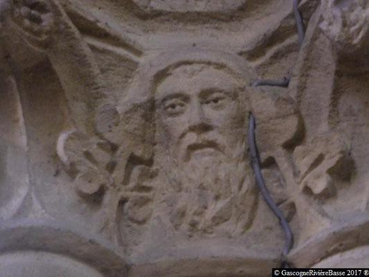 Sculpture chapiteau église de Plaisance du Gers Joachim