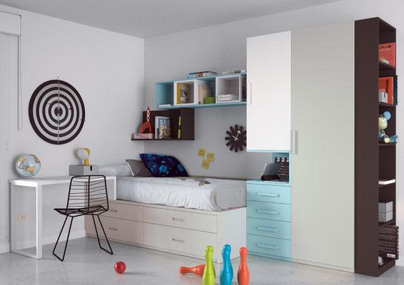 ¿Quieres renovar los dormitorios juveniles de tus hijos con muebles modernos?. Tenemos una completa gama de muebles para el dormitorio juvenil de tus peques, desde los más sencillos y funcionales a soluciones de muebles para amueblar de arriba abajo toda