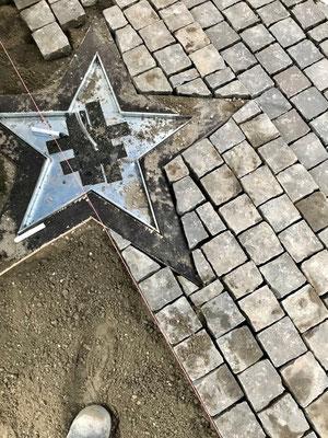 Freiburger Gartenbau Gelsomino - Schablone Stern-Ornament für Pflasterarbeit