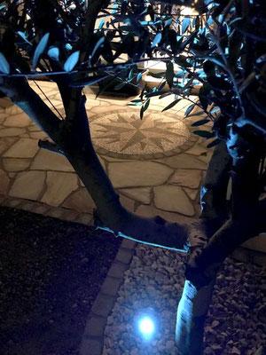 Freiburger Gartenbau Gelsomino Aussenanlage - Terasse mit Pflastersteine und Ornament