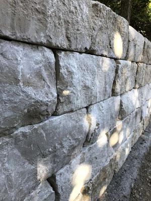 Freiburger Gartenbau Gelsomino Aussenanlage - Steinmauer