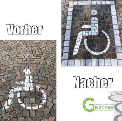 Freiburger Gartenbau Gelsomino - Behinderten-Zeichen -Ornament -