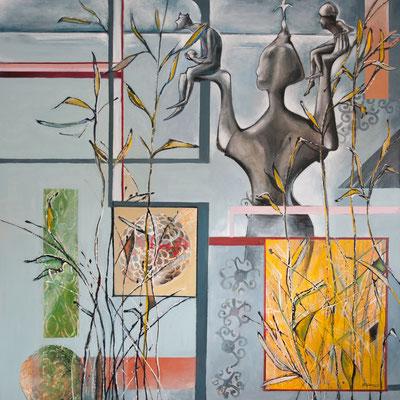 See-Herbst, Acryl-Öl, 2016, 120x120
