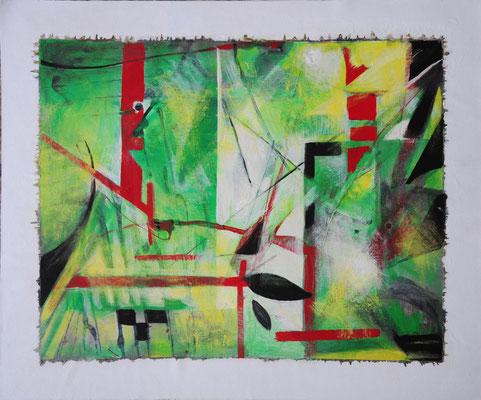 Sonnenzauber, Acryl, 2017, 36.5x45