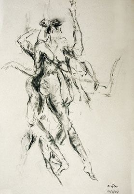 losgelöst, Kohle, 2007, 59x42