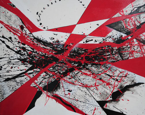 Teffpunkt, Acryl, 2016, 80x100