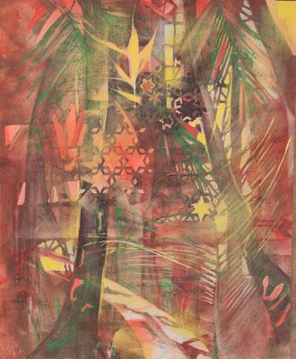 zauberhafte Wege, Acryl-Öl, 2016, 100x80