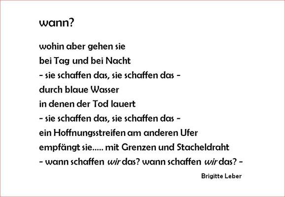 Gedicht von Brigitte Leber