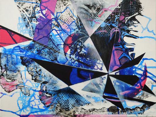 Moonlight Serenade, Acryl-Tusche, 2017, 60x80