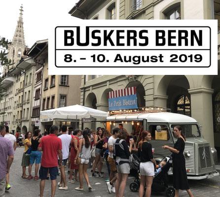Als Foodtruck am Strassenmusikantenfestival Buskers Bern mit coolen Drinks