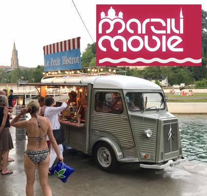 Foodtruck am Filmfestival Marzili in Bern