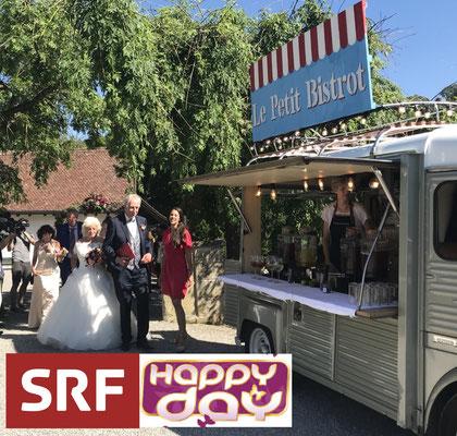 Hochzeitsapéro für SRF Sendung Happy Day: Steh-Apéro mit Cocktails und Apéro riche