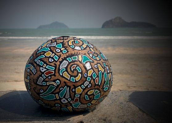noix de coco peinte, Thaïlande