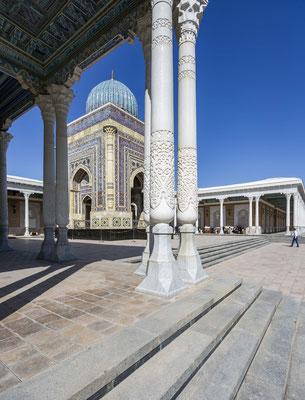 Mausoleum of Imam al-Bukhari, the author of the hadith collection.